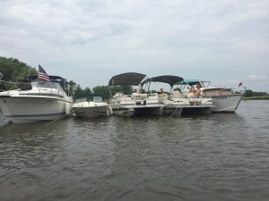 Boats at party