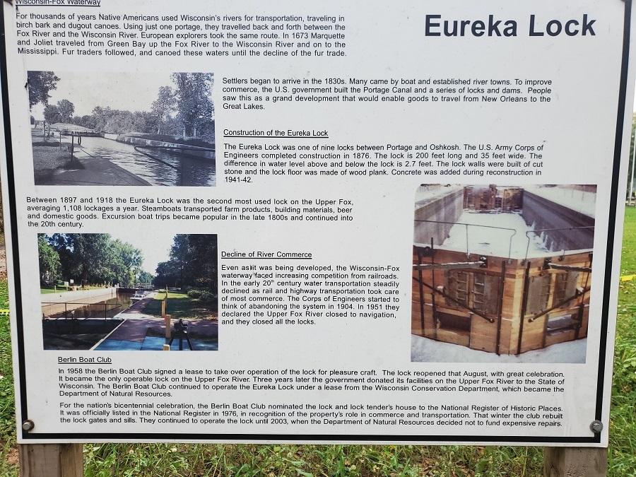 New Signage at the Eureka Lock 2021