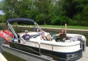 Pontoon ride on the fox river